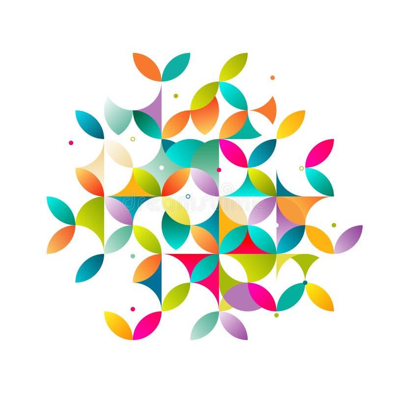Αφηρημένος ζωηρόχρωμος και δημιουργικός γεωμετρικός με ποικίλο γεωμετρικό σχέδιο ελεύθερη απεικόνιση δικαιώματος