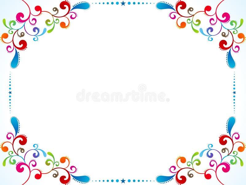 αφηρημένος ζωηρόχρωμος floral &sigma ελεύθερη απεικόνιση δικαιώματος