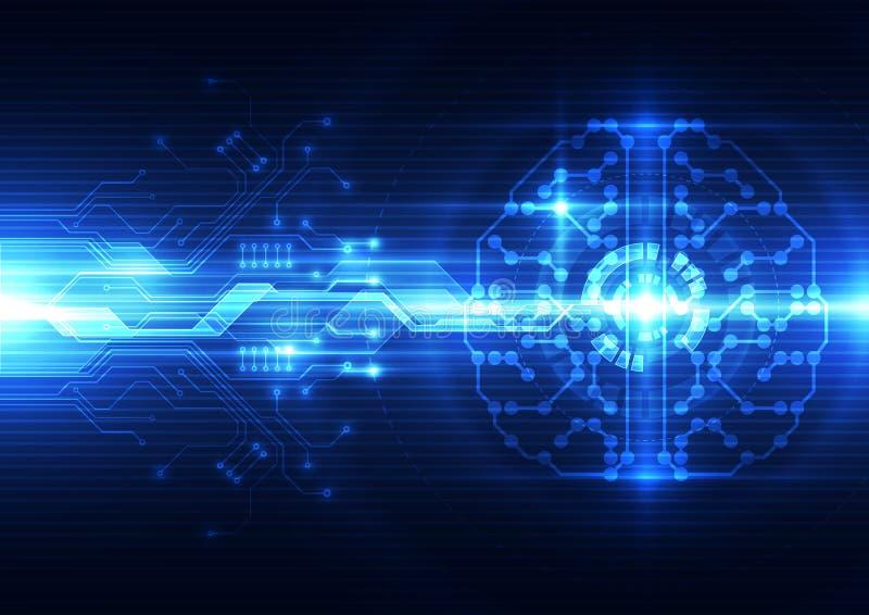 Αφηρημένος ηλεκτρικός ψηφιακός εγκέφαλος, έννοια τεχνολογίας απεικόνιση αποθεμάτων