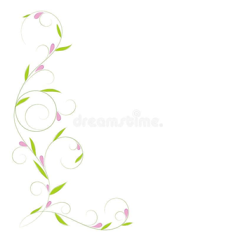 Αφηρημένος κάθετος floral στρόβιλος με τη θέση για το κείμενό σας απεικόνιση αποθεμάτων