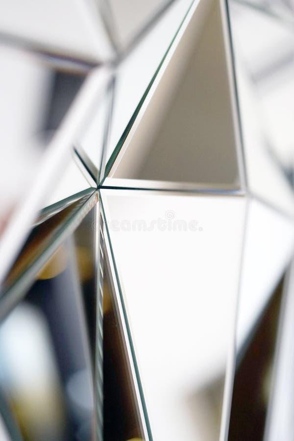 Αφηρημένος καθρέφτης Κινηματογράφηση σε πρώτο πλάνο στοκ εικόνες