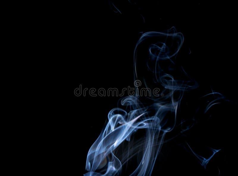 Αφηρημένος καπνός του κολλητικού Μαύρου κινέζικων ειδώλων στοκ εικόνα με δικαίωμα ελεύθερης χρήσης