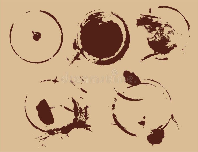 αφηρημένος καφές λεκέδων απεικόνιση αποθεμάτων