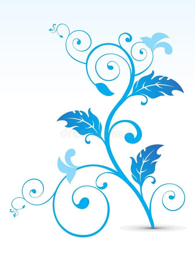 Αφηρημένος καλλιτεχνικός μπλε floral απεικόνιση αποθεμάτων