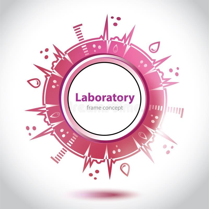Αφηρημένος κόκκινος ιατρικός εργαστηριακός κύκλος απεικόνιση αποθεμάτων