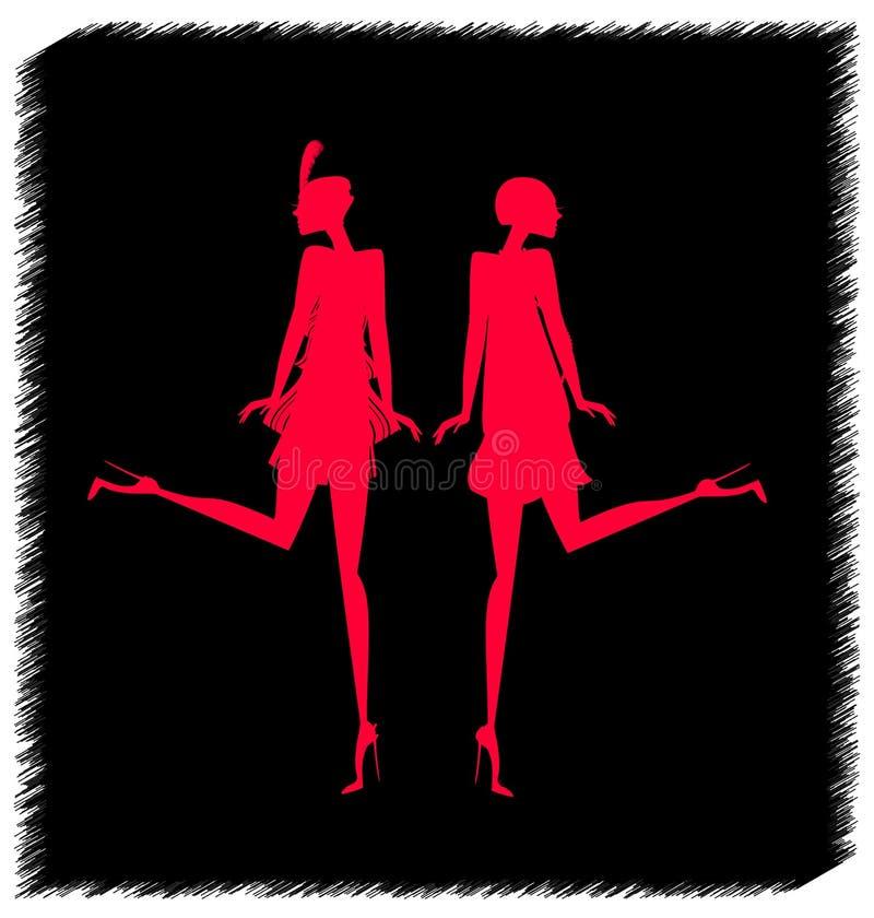 Αφηρημένος κόκκινος χορός απεικόνιση αποθεμάτων
