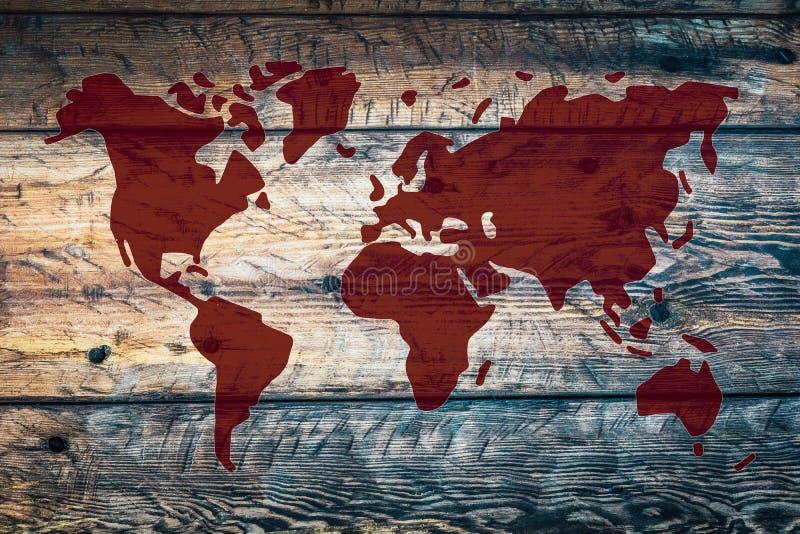 αφηρημένος κόσμος χαρτών στοκ φωτογραφία