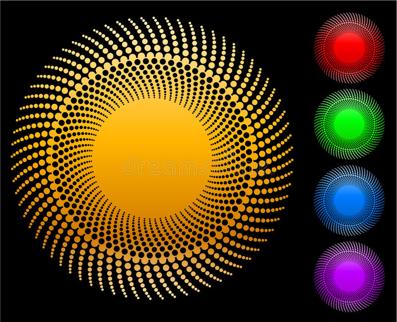 αφηρημένος κύκλος διανυσματική απεικόνιση