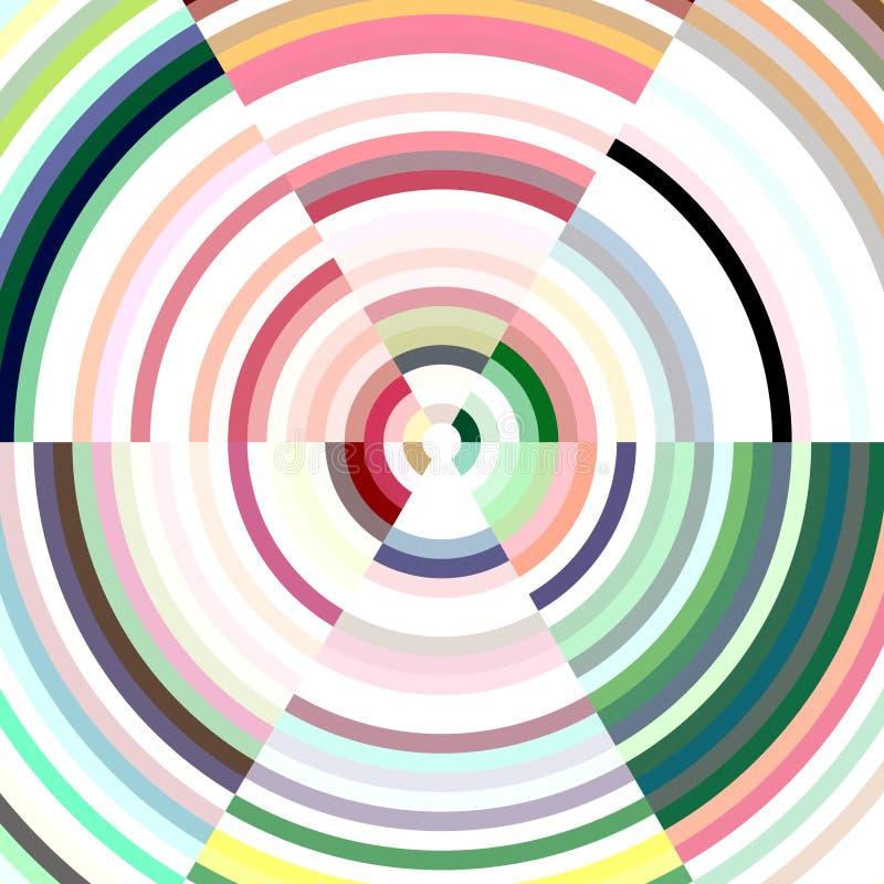 Αφηρημένος κύκλος στα μαλακά χρώματα κρητιδογραφιών, υπόβαθρο ελεύθερη απεικόνιση δικαιώματος