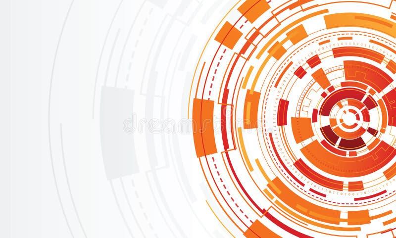 Αφηρημένος κύκλος τεχνολογίας ελεύθερη απεικόνιση δικαιώματος