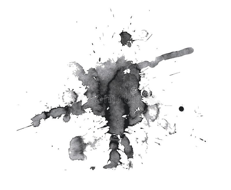 αφηρημένος μαύρος λεκές διανυσματική απεικόνιση