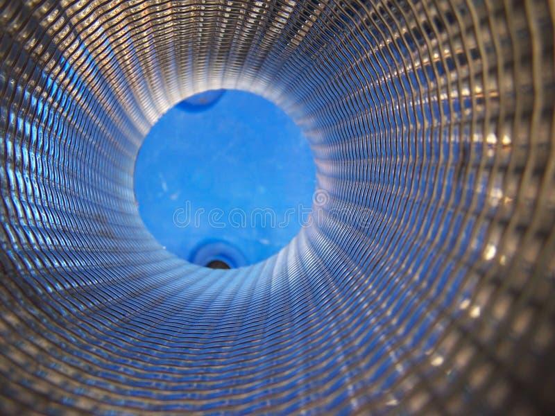 αφηρημένος μπλε εσωτερικός σωλήνας στοκ φωτογραφίες με δικαίωμα ελεύθερης χρήσης