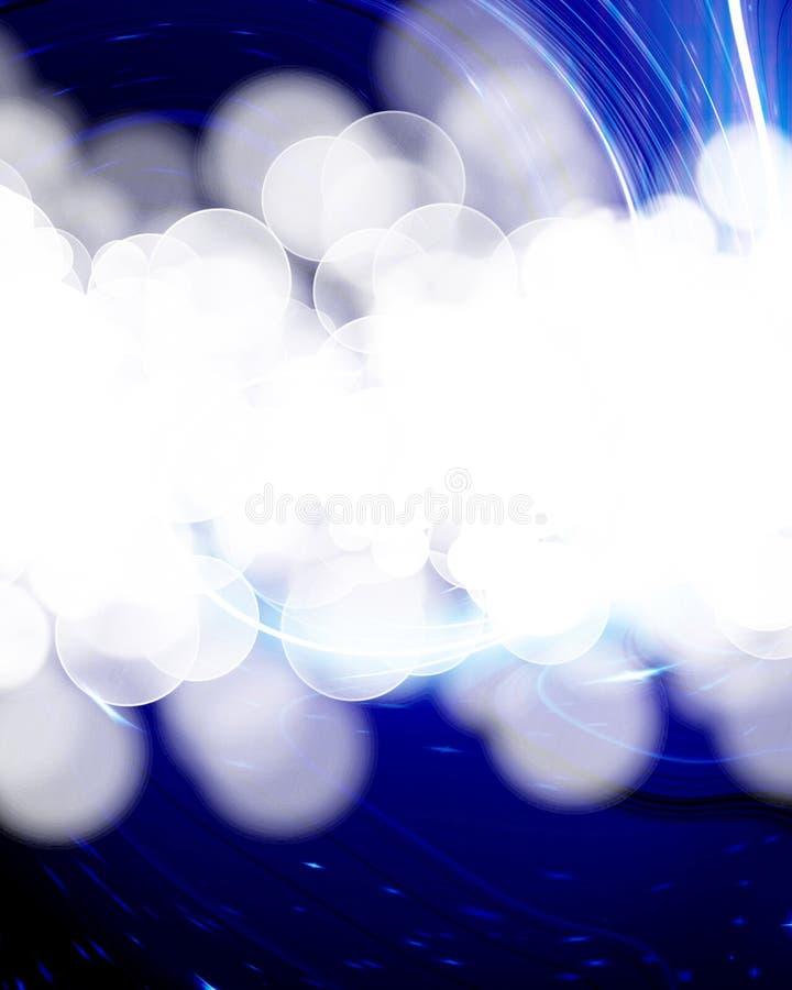 Αφηρημένος μπλε στρόβιλος απεικόνιση αποθεμάτων