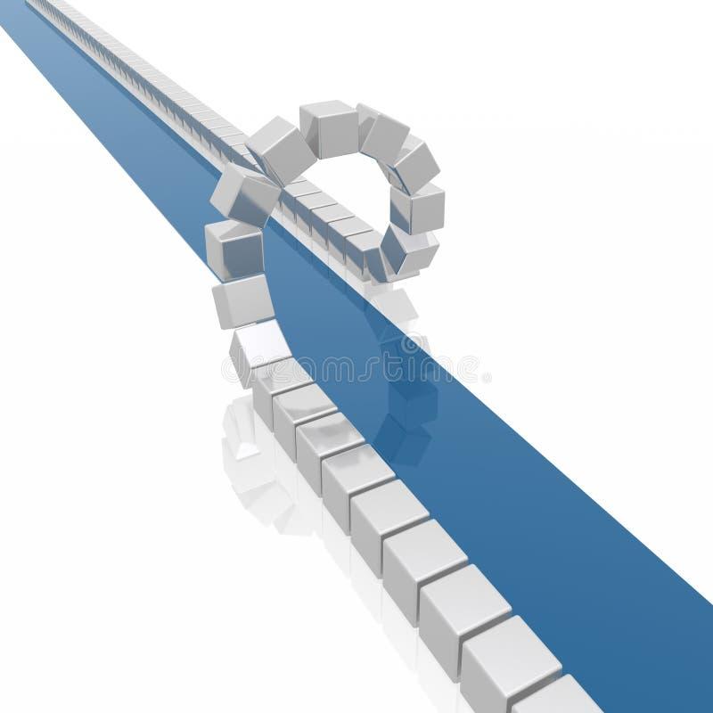 αφηρημένος μπλε τρόπος διανυσματική απεικόνιση