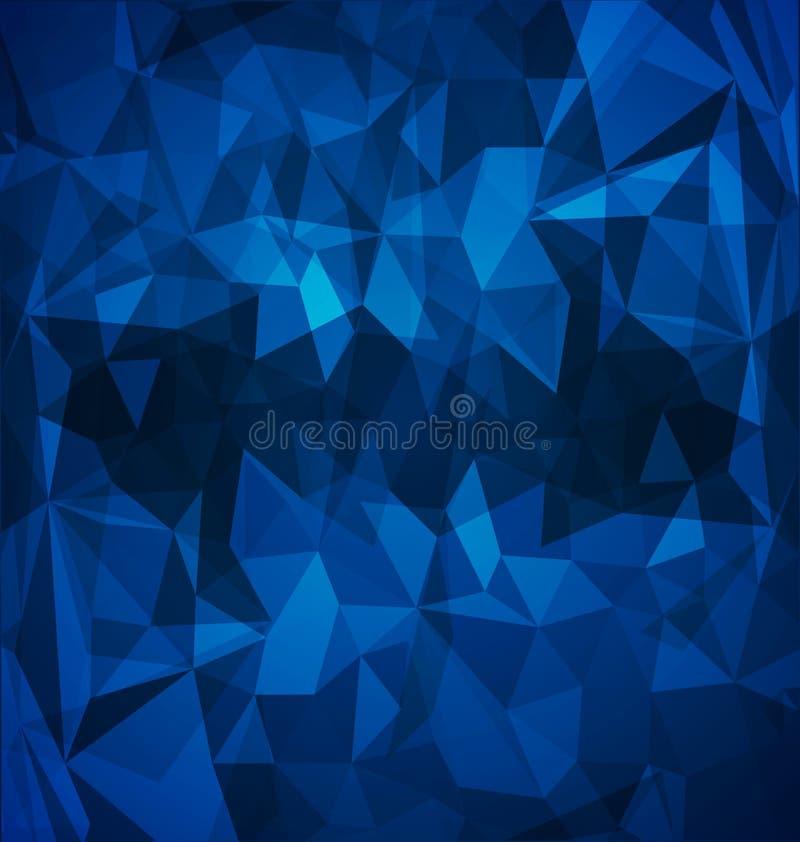 Αφηρημένος μπλε polygonal ελεύθερη απεικόνιση δικαιώματος