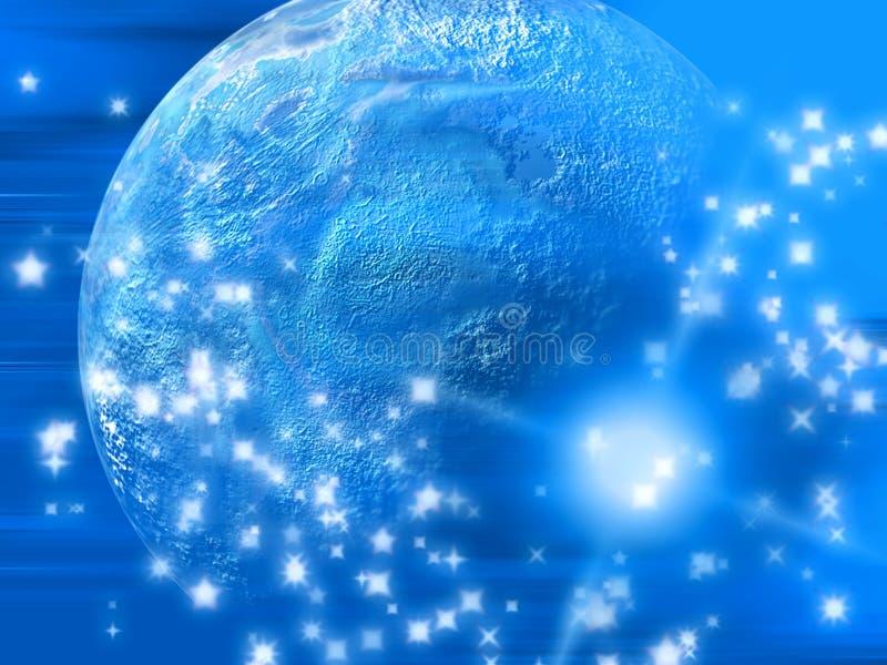 αφηρημένος πλανήτης ελεύθερη απεικόνιση δικαιώματος