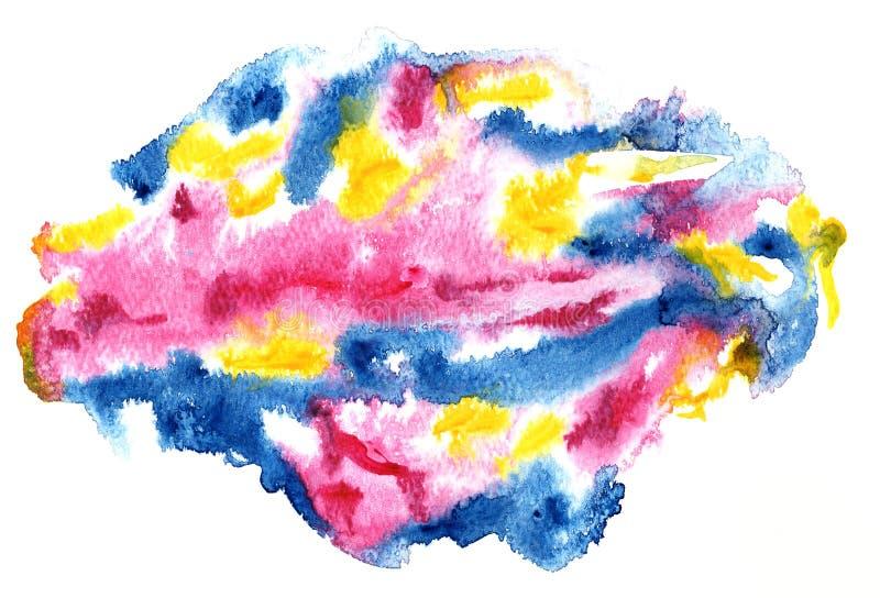 Αφηρημένος πολύχρωμος παφλασμός του υδατοχρώματος διανυσματική απεικόνιση