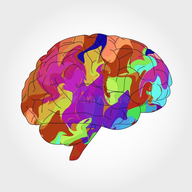 Αφηρημένος πολύχρωμος εγκέφαλος στοκ φωτογραφία