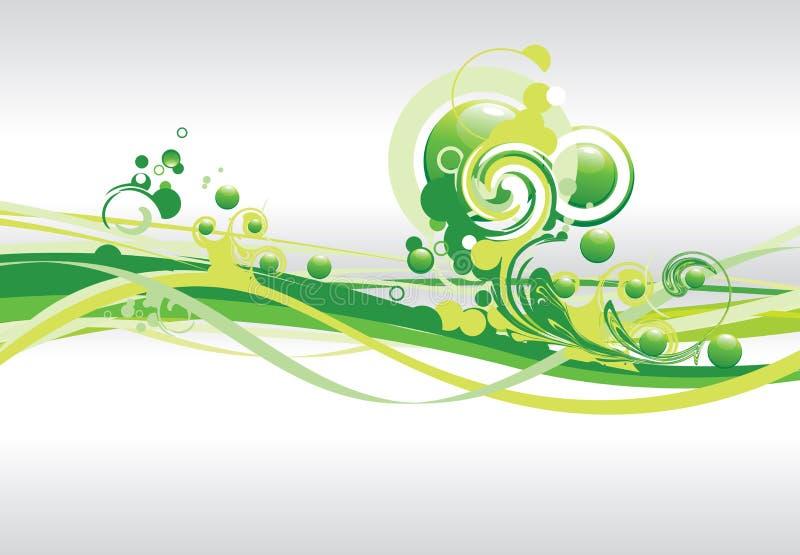 αφηρημένος πράσινος στρόβι& διανυσματική απεικόνιση