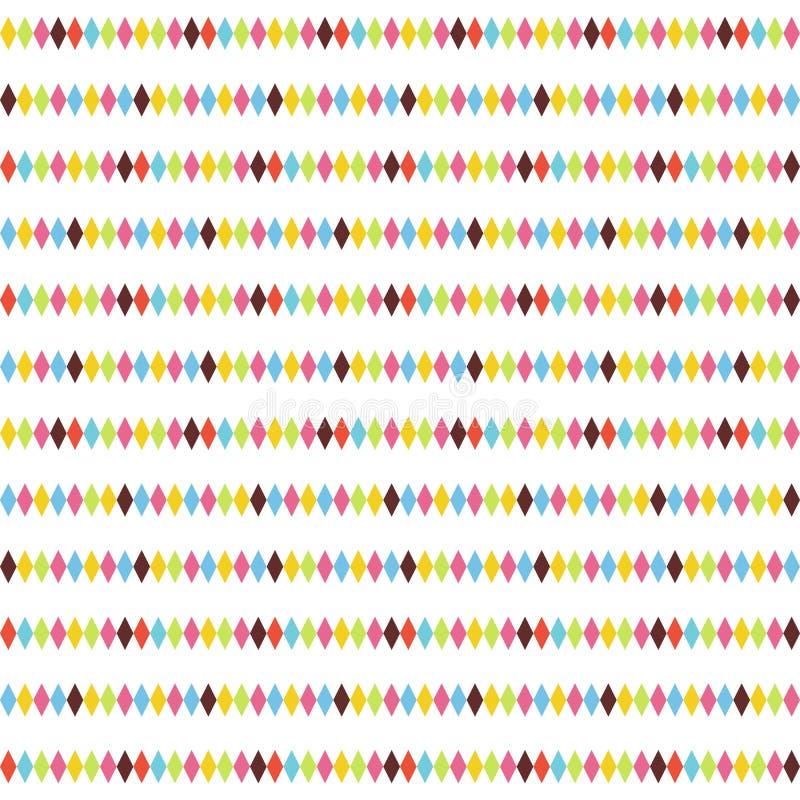 αφηρημένος ρόμβος προτύπων σχεδίου άνευ ραφής Ζωηρόχρωμη οριζόντια ανασκόπηση διανυσματική απεικόνιση