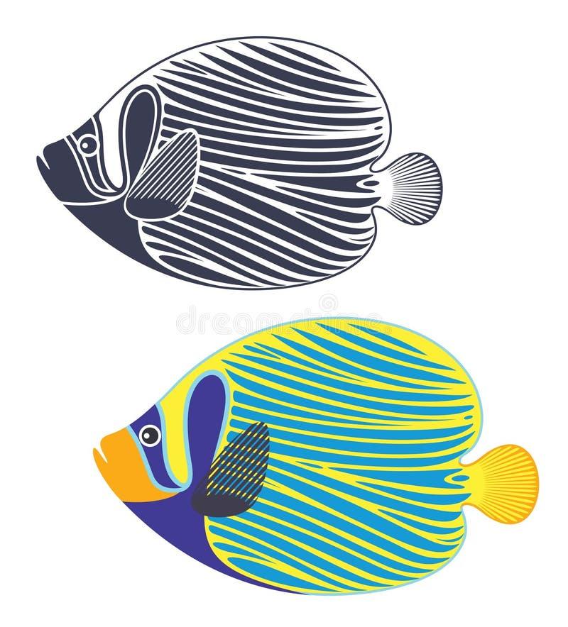 αφηρημένος σκόπελος ψαρ&iota απεικόνιση αποθεμάτων