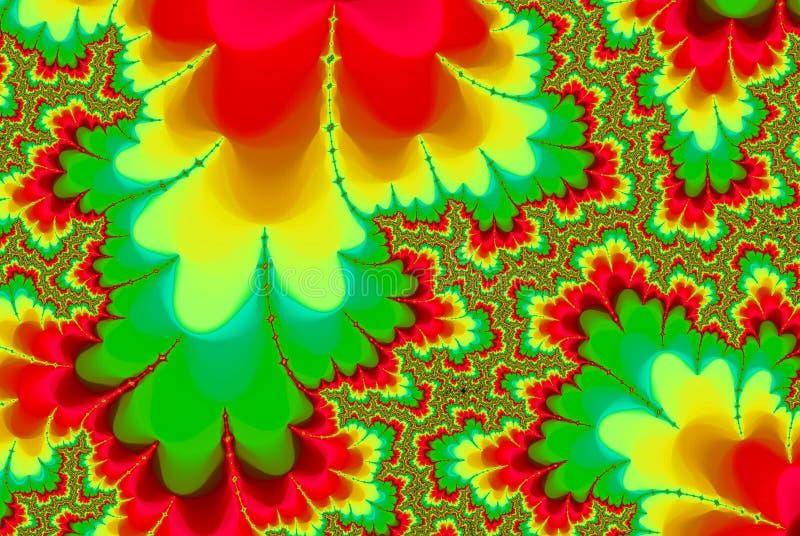 αφηρημένος στρόβιλος ουράνιων τόξων fractal psychedelic απεικόνιση αποθεμάτων
