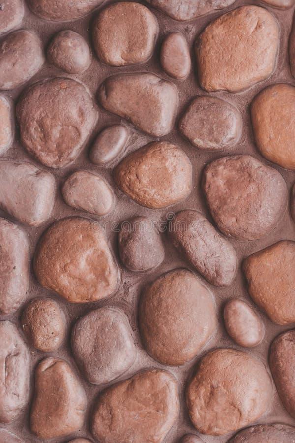 αφηρημένος τοίχος πετρών α&n Κινηματογράφηση σε πρώτο πλάνο χαλικιών στοκ εικόνες με δικαίωμα ελεύθερης χρήσης