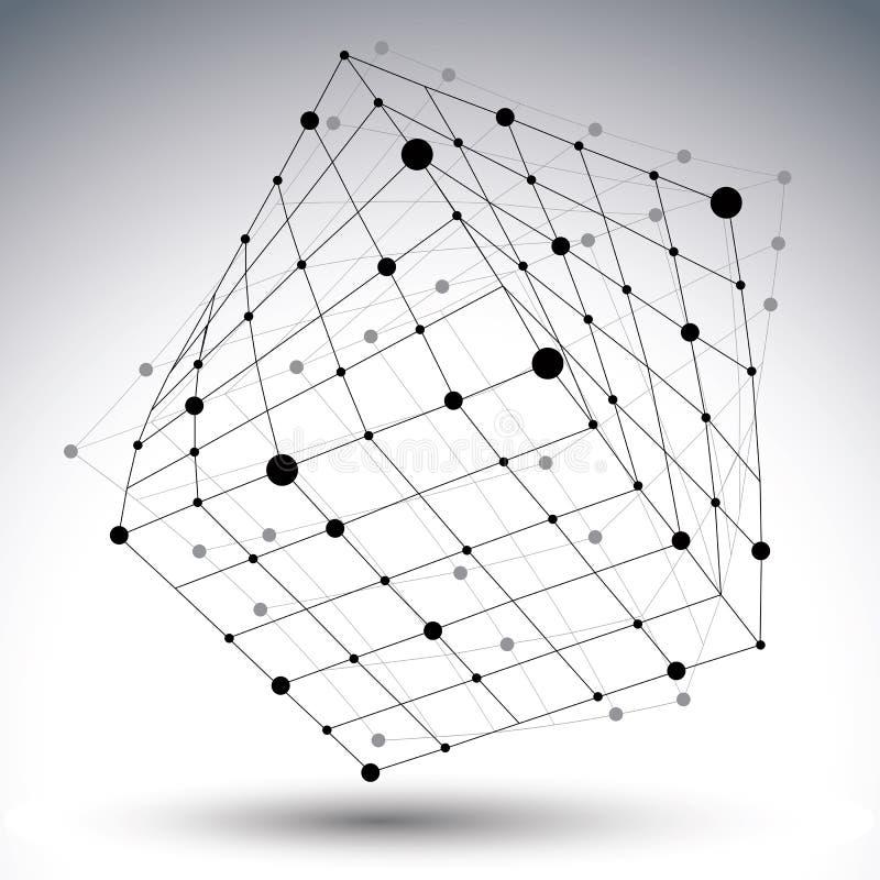 Αφηρημένος τρισδιάστατος αριθμός δικτύων δομών polygonal διανυσματικός, αντίθεση ελεύθερη απεικόνιση δικαιώματος
