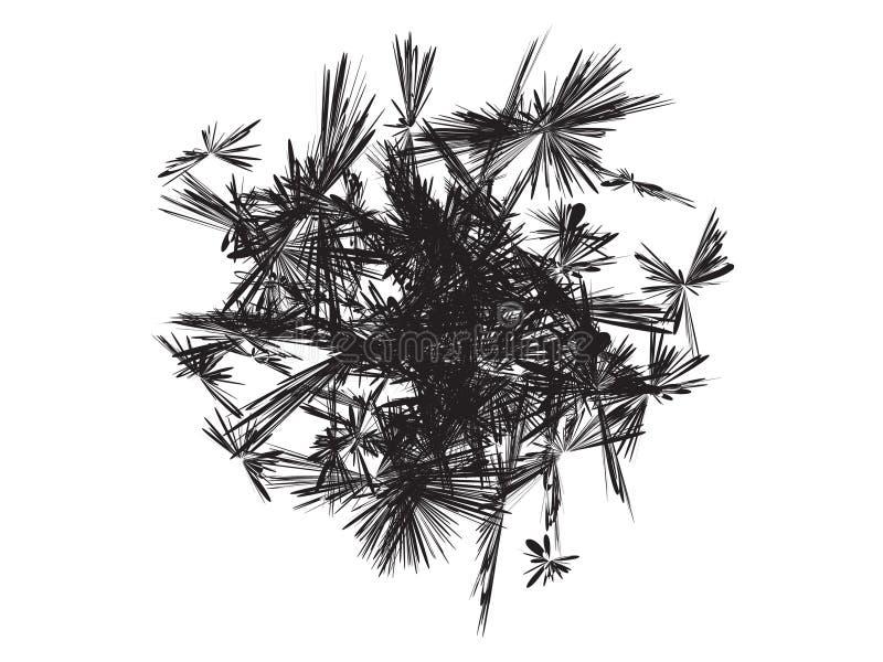 Αφηρημένος τροπικός βγάζει φύλλα το σχέδιο απεικόνιση αποθεμάτων