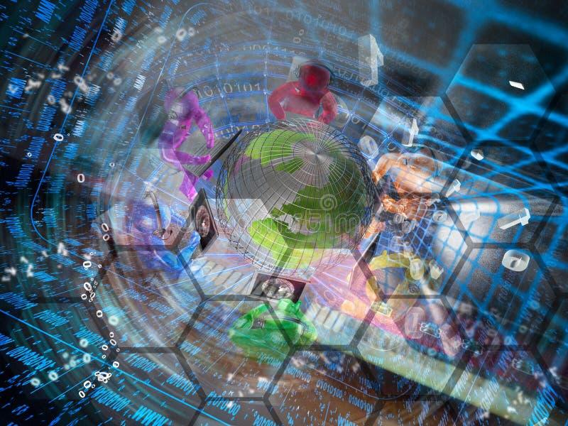 αφηρημένος υπολογιστής σύνθεσης ανασκόπησης εννοιολογικός στοκ εικόνες