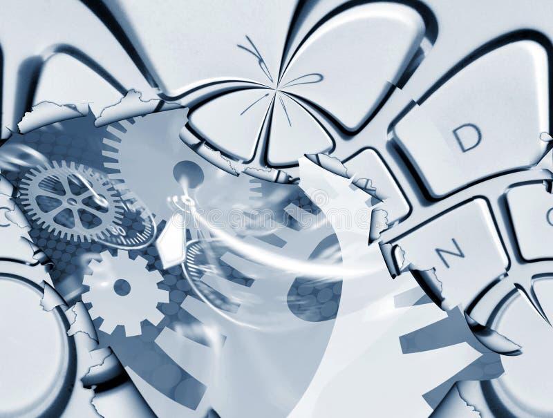 αφηρημένος υπολογιστής διανυσματική απεικόνιση