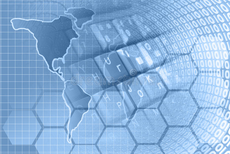 αφηρημένος υπολογιστής σύνθεσης ανασκόπησης εννοιολογικός στοκ εικόνα με δικαίωμα ελεύθερης χρήσης