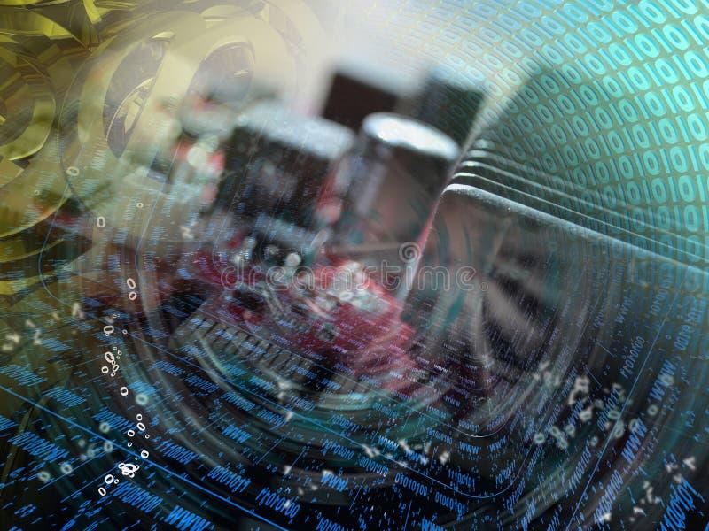 αφηρημένος υπολογιστής σύνθεσης ανασκόπησης εννοιολογικός στοκ εικόνες με δικαίωμα ελεύθερης χρήσης