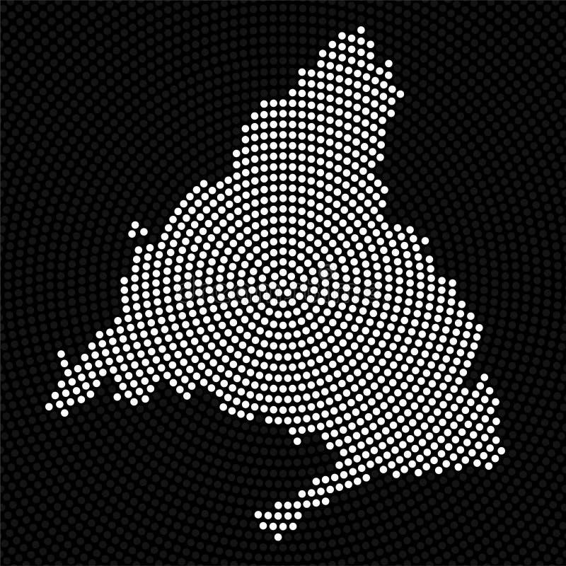 Αφηρημένος χάρτης Μαδρίτη των ακτινωτών σημείων διανυσματική απεικόνιση