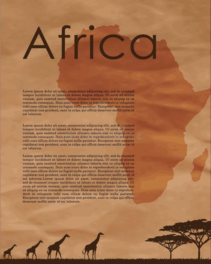 Download Αφηρημένος χάρτης της Αφρικής Διανυσματική απεικόνιση - εικονογραφία από γη, καλοκαίρι: 62719526