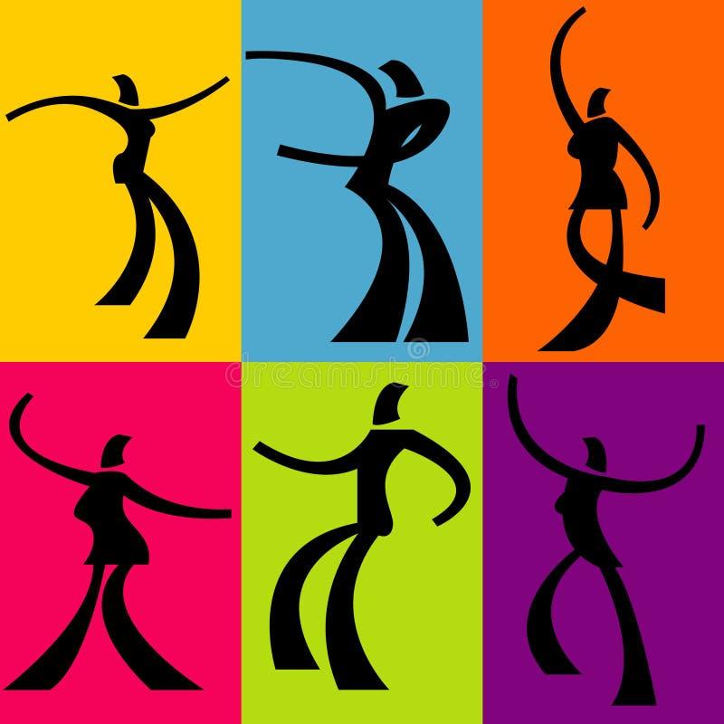 αφηρημένος χορευτής ανα&sigma διανυσματική απεικόνιση
