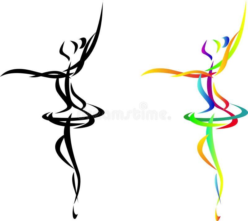 αφηρημένος χορευτής μπαλέ διανυσματική απεικόνιση