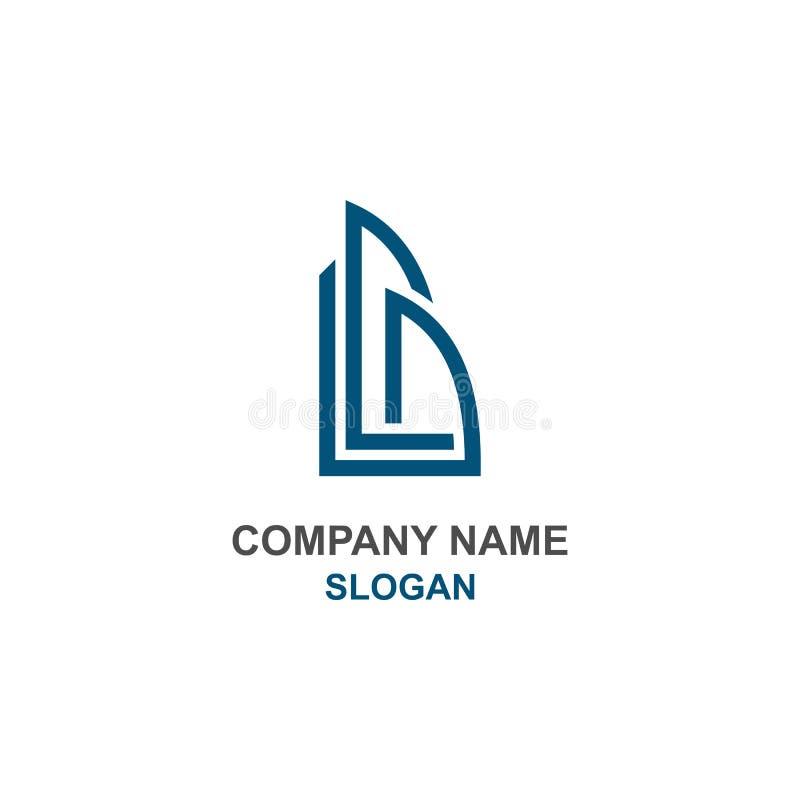 Αφηρημένος χτίστε το αρχικό λογότυπο επιστολών Β διανυσματική απεικόνιση