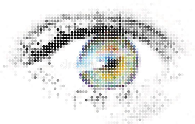 αφηρημένος ψηφιακός άνθρωπος ματιών διανυσματική απεικόνιση