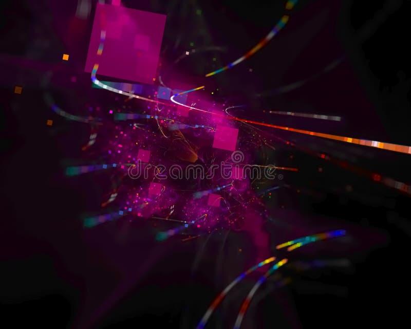 Αφηρημένος ψηφιακός fractal γραφικός δημιουργικός, καθιστά καλλιτεχνικός, κομψότητα, δυναμική διανυσματική απεικόνιση