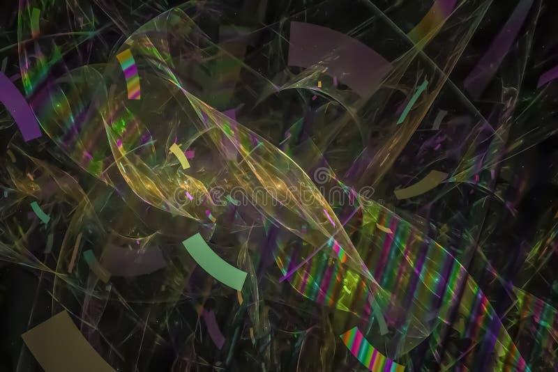 Αφηρημένος όμορφος ψηφιακός fractal δονούμενος δημιουργικός όμορφος σχεδίου ελεύθερη απεικόνιση δικαιώματος