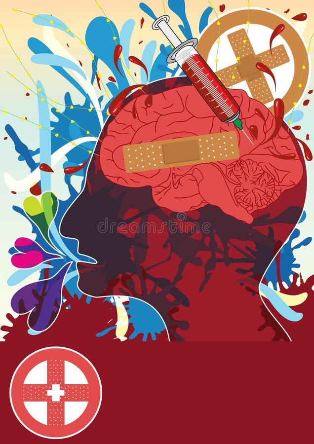 αφηρημένος eps πονοκέφαλος απεικόνιση αποθεμάτων