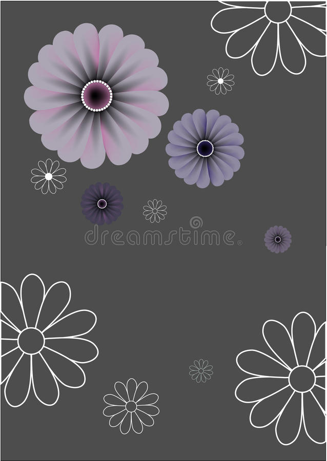 αφηρημένος floral αναδρομικός &al απεικόνιση αποθεμάτων