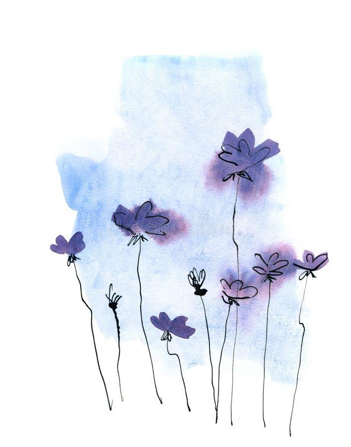 αφηρημένος floral ανασκόπησης π&o απεικόνιση αποθεμάτων