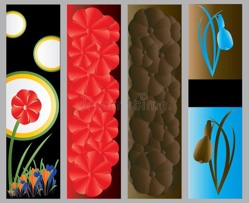 αφηρημένος floral Ιστός εμβλημάτων ελεύθερη απεικόνιση δικαιώματος