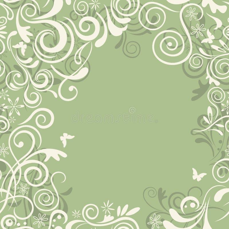 αφηρημένος floral πράσινος άνευ  ελεύθερη απεικόνιση δικαιώματος