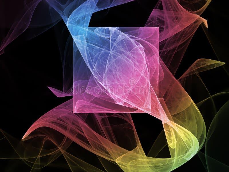 αφηρημένος fractal φανταστικός, σκοτεινός, υπερφυσικός δημιουργικός δυναμικός υποβάθρου στοκ φωτογραφία με δικαίωμα ελεύθερης χρήσης