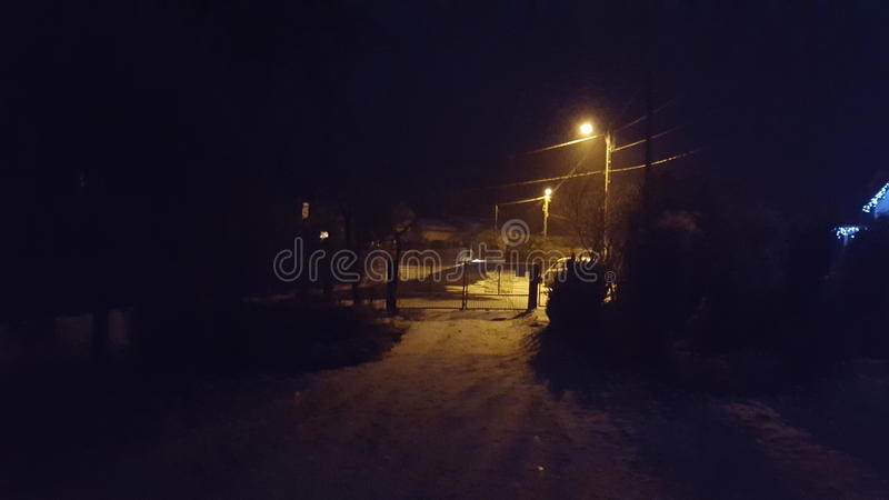 αφηρημένος fractal χειμώνας νύχτας εικόνας στοκ εικόνα