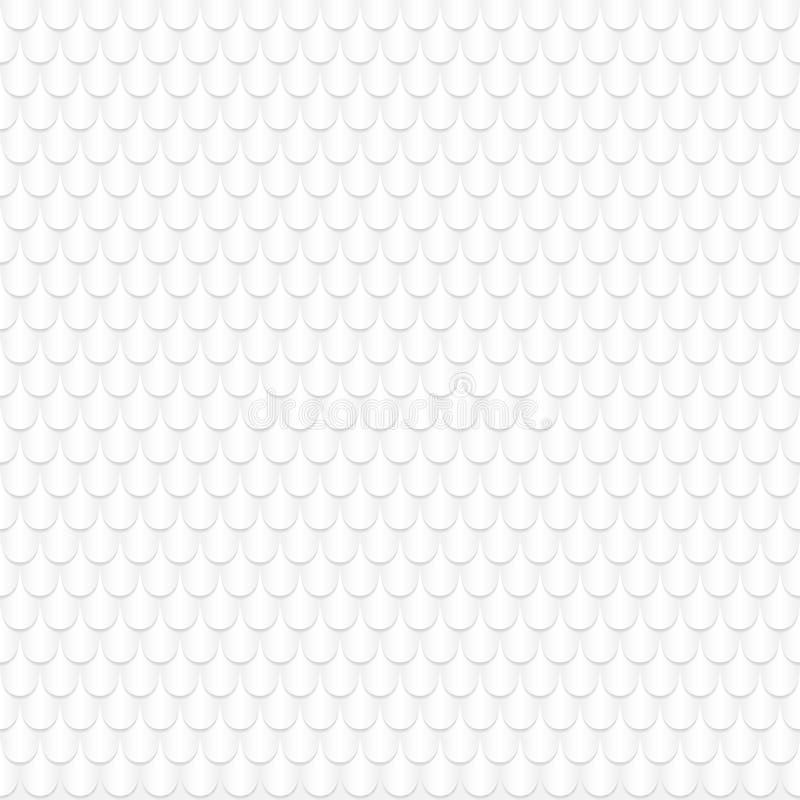 Αφηρημένο άνευ ραφής άσπρο γεωμετρικό σχέδιο, που δημιουργείται του ωοειδούς εγγράφου μορφής περικοπών με τις σκιές επίσης corel  διανυσματική απεικόνιση