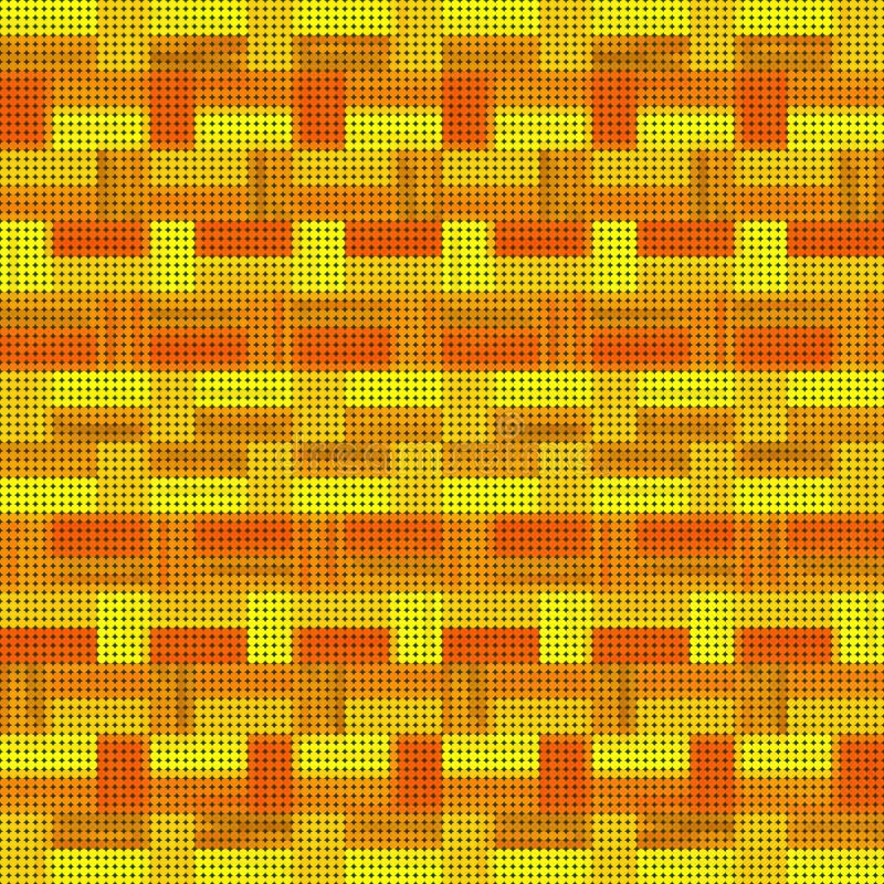 Αφηρημένο άνευ ραφής αναδρομικό διαστιγμένο σχέδιο των λωρίδων και των ορθογωνίων ελεύθερη απεικόνιση δικαιώματος
